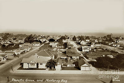 Photograph - View From Forest Hill Hotel Pacific Grove, Calif. Circa 1930 by California Views Mr Pat Hathaway Archives