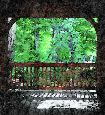 Mixed Media - View From Gazebo by Femina Photo Art By Maggie