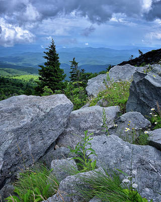Photograph - View From Grandfather Mtn Nc by Steve Hurt