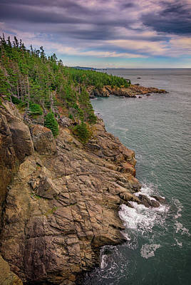 Quoddy Photograph - View From Gulliver's Hole by Rick Berk