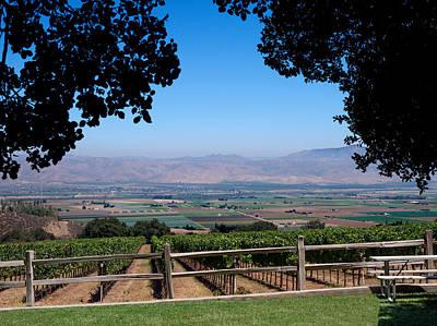 Photograph - View From Hahn Vineyard by Derek Dean