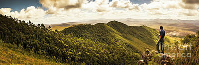 View From Halfway Up Mount Zeehan Art Print