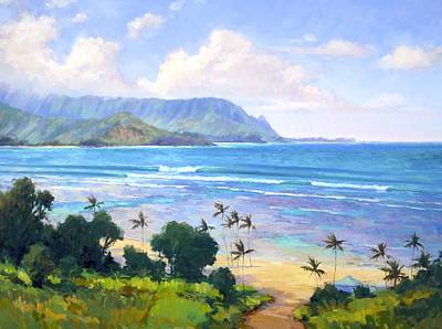 Painting - View From Hanalei Bay Resort by Jenifer Prince