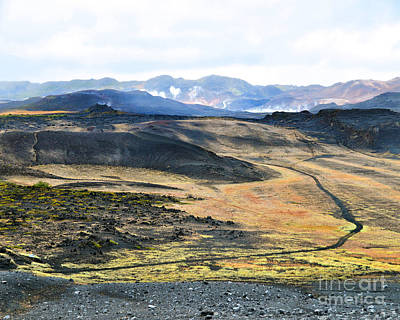 Photograph - View From Hverfjall Volcano, Iceland by Catherine Sherman