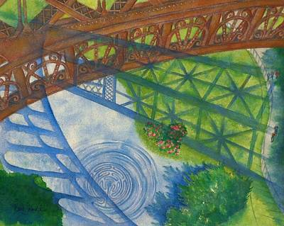 Painting - View From La Tour Eiffel by Barb Toland