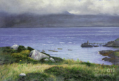 Heather Painting - View From Lamlash by Colin Hunter