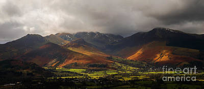 Photograph - Storm Clouds Over The Western Fells by John Collier