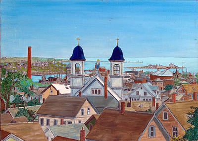 Painting - View From Ledgemont Ave.   by Laurence Dahlmer