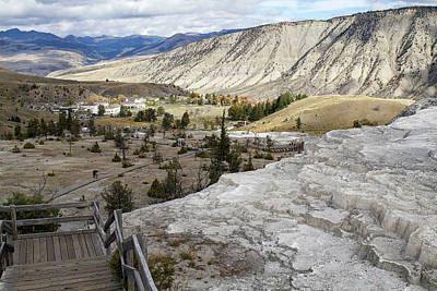 Photograph - View From Mammoth Hot Springs  by Shirley Mitchell