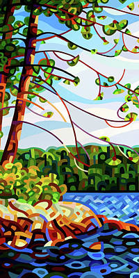 Painting - View From Mazengah - Crop by Mandy Budan