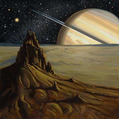 View From Mimas Art Print
