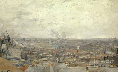 Rooftops Painting - View From Montmartre, 1886 by Vincent Van Gogh