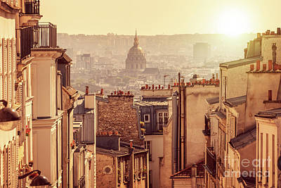 Paris Skyline Royalty-Free and Rights-Managed Images - View from Montmartre by Delphimages Photo Creations