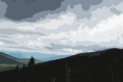 View From Mount Washington II Art Print by Suzanne Gaff