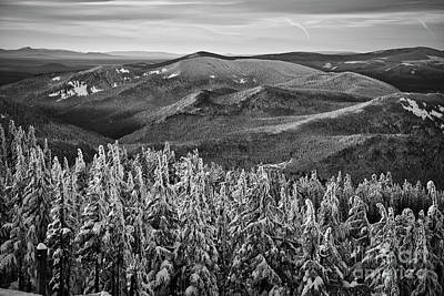 Photograph - View From Mt. Hood In Black And White by Bruce Block