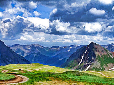 Photograph - View From Mt. Sneffels by Ginger Wakem