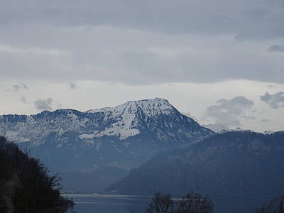 Photograph - View From My Art Studio - Stanserhorn - March 2018 by Manuel Sueess