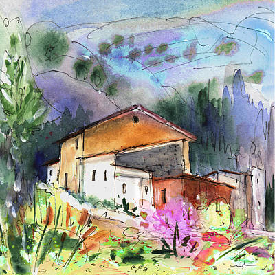 Impressionism Drawings - View From My Office In Spain by Miki De Goodaboom