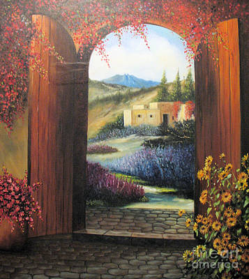 Girasole Painting - View From My Patio by Sonia Flores Ruiz