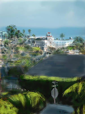 Stop Sign Digital Art - View From My Studio by Russell Pierce