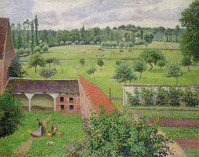 Farm Painting - View From My Window, Eragny-sur-epte by Camille Pissarro