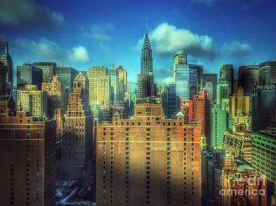 Photograph - View From My Window - Magnificent Skyline Of New York by Miriam Danar