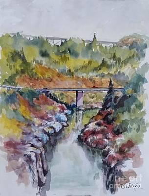 View From No Hands Bridge Art Print