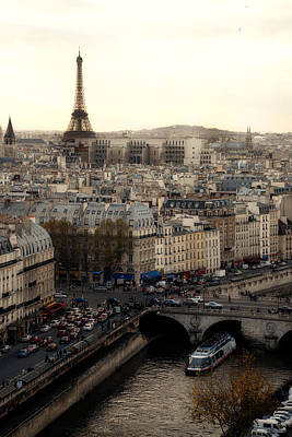 View From Notre Dame Art Print by Cabral Stock
