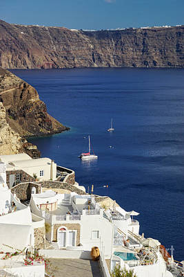 view from Oia Print by HD Connelly