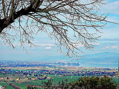 Photograph - View From Panicale Toward Castiglione Del Lago In Umbria by Dorothy Berry-Lound