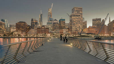 Photograph - View From Pier 14 by Laura Macky