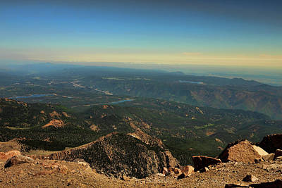 Photograph - View From Pikes Peak 1 by Judy Vincent