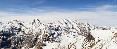 Landscapes Royalty-Free and Rights-Managed Images - View From Piz Gloria  Bernese Oberland by Kav Dadfar