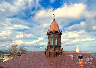Photograph - View From Plymouth Ma Town Hall  by Janice Drew