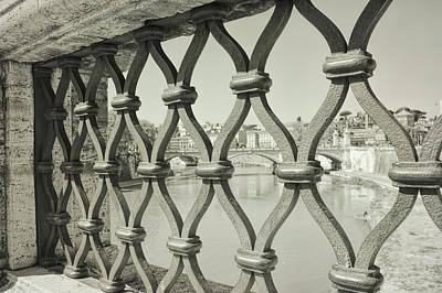 Photograph - View From Ponte Sant' Angelo In Rome by JAMART Photography