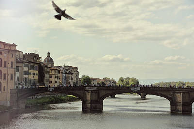Photograph - View From Ponte Vecchio by JAMART Photography