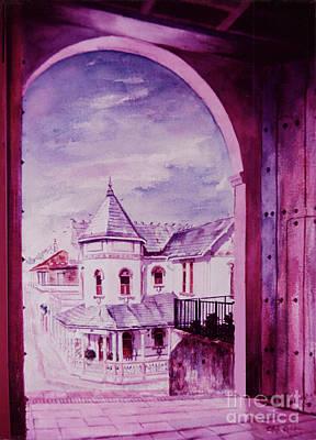 Porta Coeli Church Painting - View From Porta Coeli San German Puerto Rico by Estela Robles