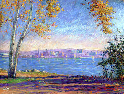 View From Presque Isle Art Print by Michael Camp