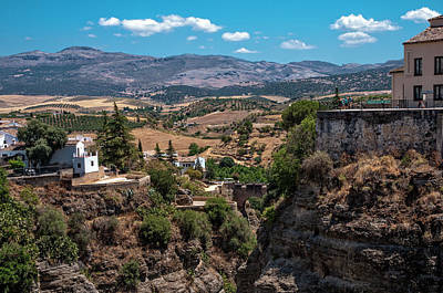Photograph - View From Ronda Bridge by Jenny Rainbow