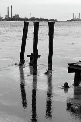 Photograph - View From Saint Clair River Winter 2017 by Mary Bedy
