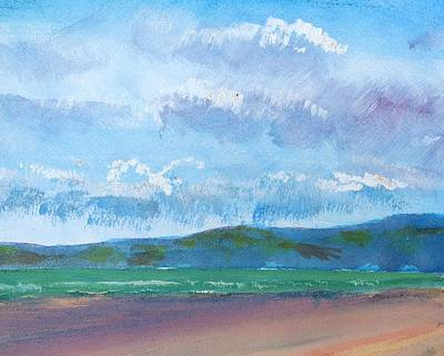 Painting - View From Sandy Bay Exmouth by Mike Jory