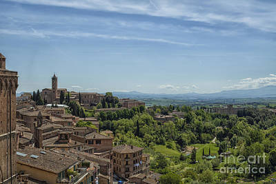View From Sienna In Italy Art Print by Patricia Hofmeester