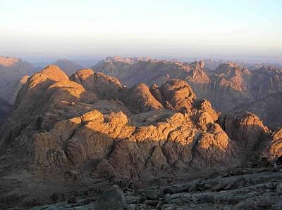 view from Sinai Mountain Egypt Art Print by Evguenia Men