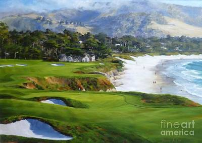 Carmel By The Sea Painting - View From The 9th by Shelley Cost