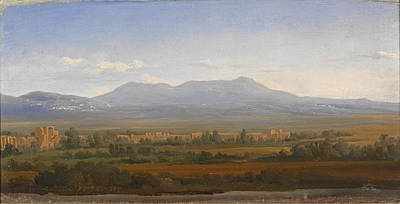 Gustaf Wilhelm Palm Painting - View From The Albano Mountains. Study by Gustaf Wilhelm Palm