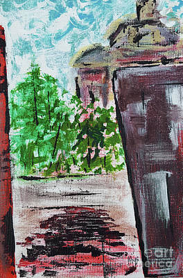 Painting - View From The Alley by Alys Caviness-Gober