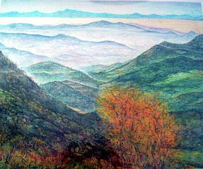 Painting - View From The Autumnal Belchen   by Arkis Krayl