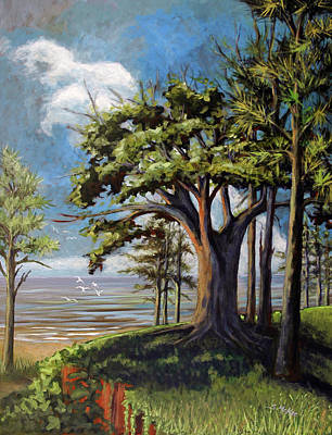 Painting - View From The Bluff by Suzanne McKee