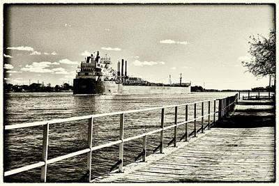Photograph - View From The Boardwalk Antique 101617 by Mary Bedy