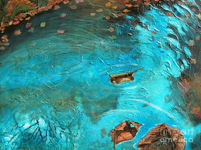 Tree Roots Painting - View From The Bridge by Penny Ross